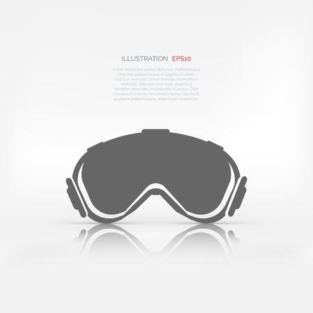 ski goggles: ski goggles icon