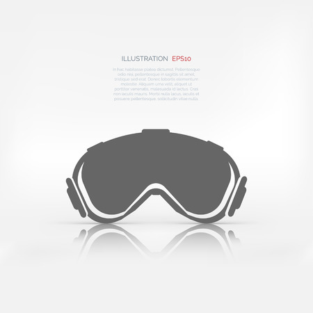 piste: ski goggles icon