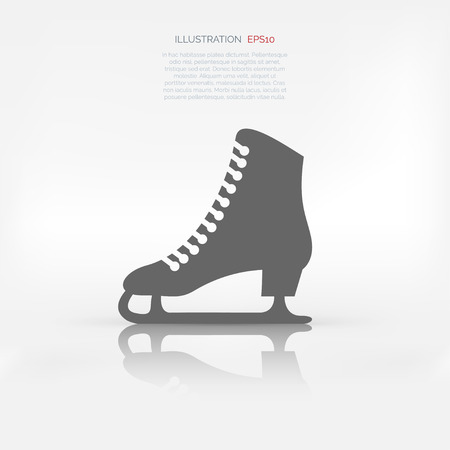 figure skating: Skate web icon Illustration