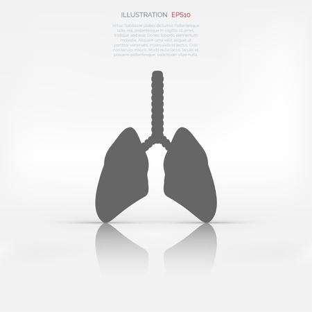 poumon humain: Ic�ne de poumon humain. Ant�c�dents m�dicaux. Soins de sant�