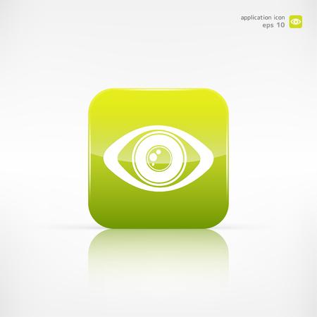 human eye: Eye icon, human eye symbol Illustration