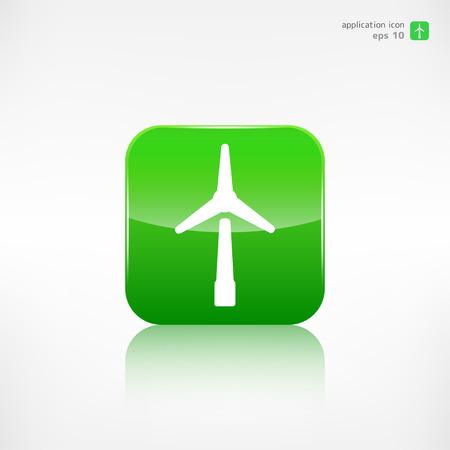 windfarm: vento icona turbina, il concetto di eco Vettoriali