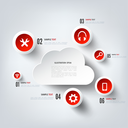 pda: Cloud computing background with web icons. Social network. Mobile app.