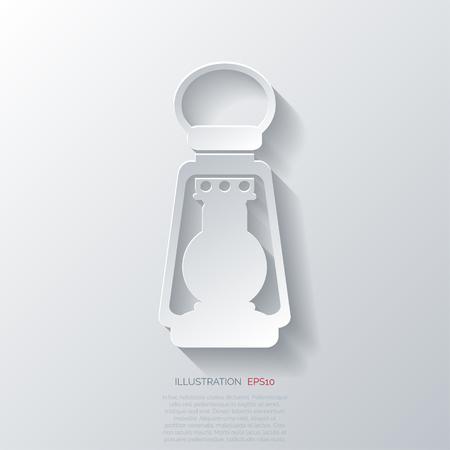 djinn: Retro oil lamp icon Illustration