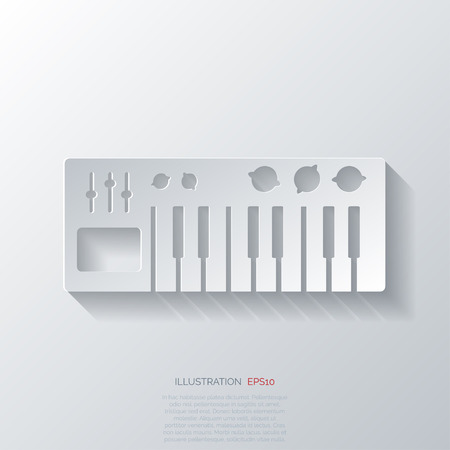 digital piano synthesizer icon
