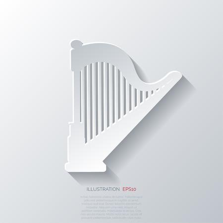 philharmonic: Harp icon. Msic instruments