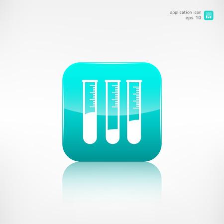 microbiologia: Icono Tubo de ensayo, equipos de microbiolog�a Vectores