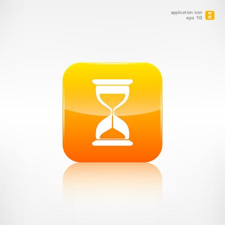 metering: Sand clock icon. Glass timer symbol