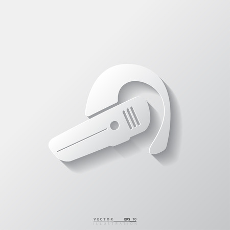 handsfree: Bluetooth Headset icon. Wireless connection