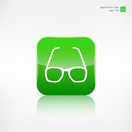 wayfarer: Glasses icon