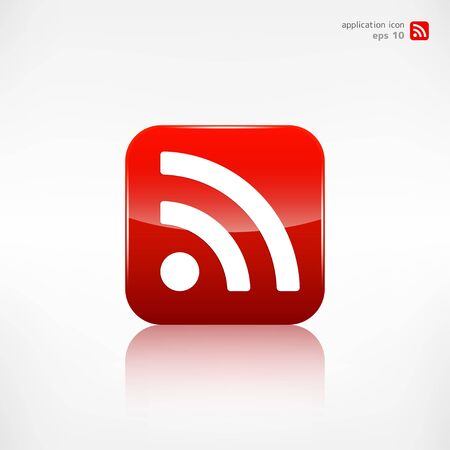syndicated: Rss icon, news symbol