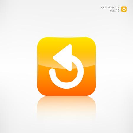 undo: Undo icon, back arrow symbol