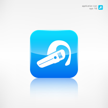 Bluetooth Headset icon. Wireless connection Vector