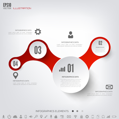 cloud computing: Cloud computing background with web icons. Social network. Mobile app. Infographic elements. Illustration