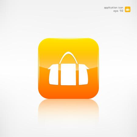 sac: Hipster modern bag icon