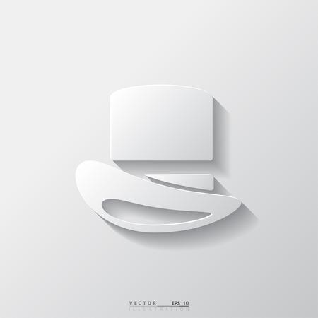 cilindro: Icono sombrero Cilindro