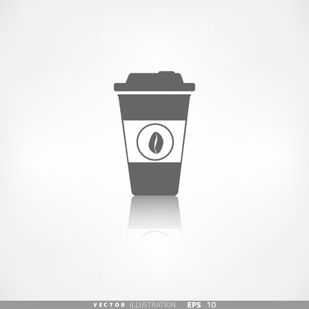 take out food container: Takeaway paper coffee cup icon