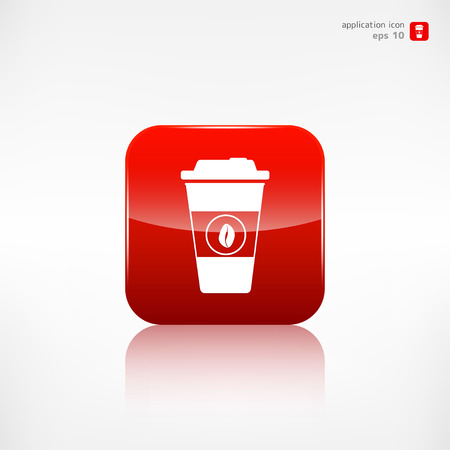 out of use: Takeaway paper coffee cup icon
