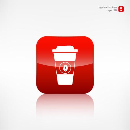 takeaway: Takeaway paper coffee cup icon