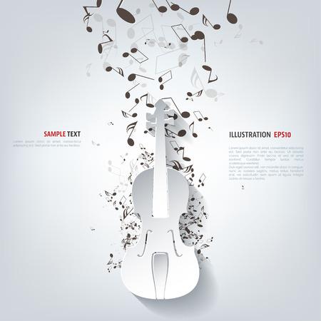 바이올린 아이콘입니다. 음악 배경 일러스트