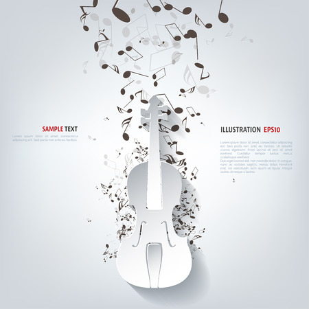 music buttons: Violin Icon. Music background