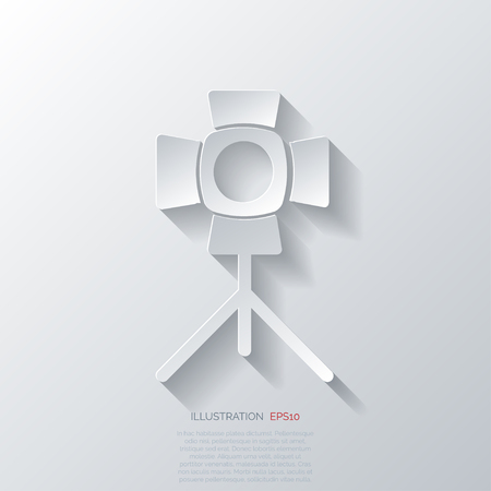 photocamera: spotlight icon. light for photocamera