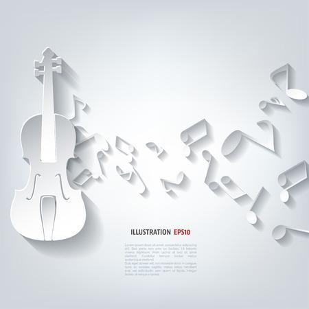 ヴァイオリンのアイコン。バック グラウンド ミュージック  イラスト・ベクター素材