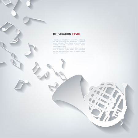 Music wind instruments icon Ilustração