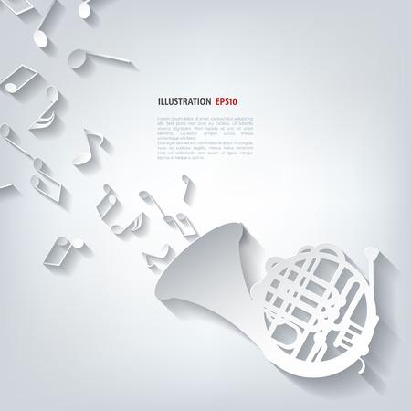 Music wind instruments icon Illustration