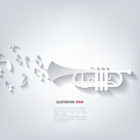 Musik Blasinstrumente Symbol Standard-Bild - 38109458