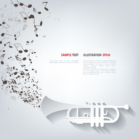 brass wind: Music wind instruments icon Illustration