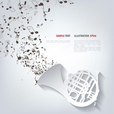 Music wind instruments icon Illusztráció