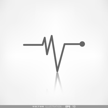 beat: Heart beat, cardiogramm. Pulse icon