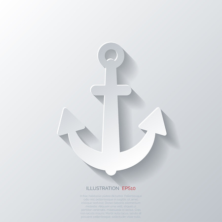 anchored: Anchor web icon Illustration