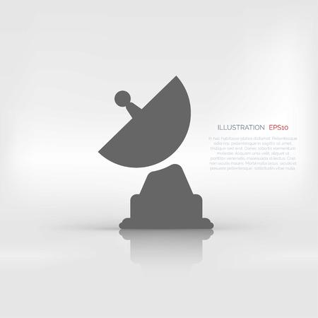 plate: satellite plate icon Illustration