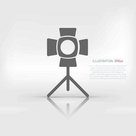 spotlight icon. light for photocamera