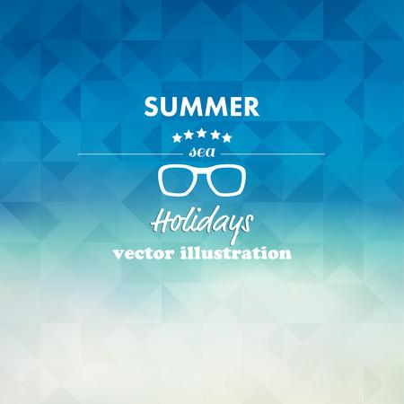 Vintage summer, sea abstract background. Illustration
