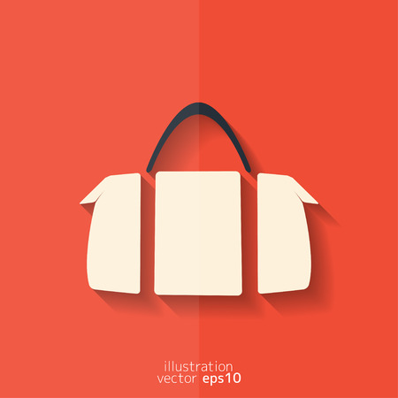 portmanteau: Hipster modern bag icon