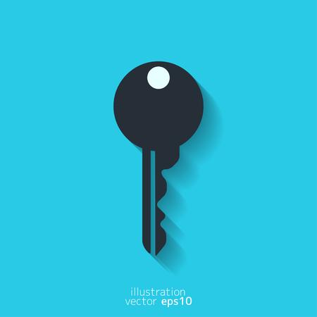 door lock: Key icon, door lock symbol Illustration