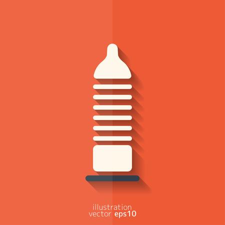 condom: Condom icon. Health care. Medical background Illustration