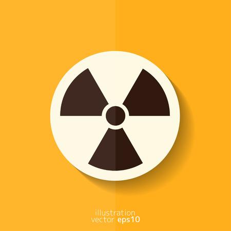 biological waste: Icono de peligro de radiaci�n Vectores
