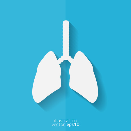 flue: Human lung icon. Medical background. Health care Illustration