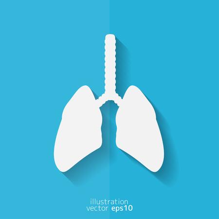 aparato respiratorio: Icono de pulmón humano. Antecedentes médicos. Cuidado de la salud