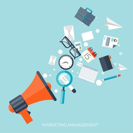 management concept: Icono de altavoz plano. Concepto de gesti�n.