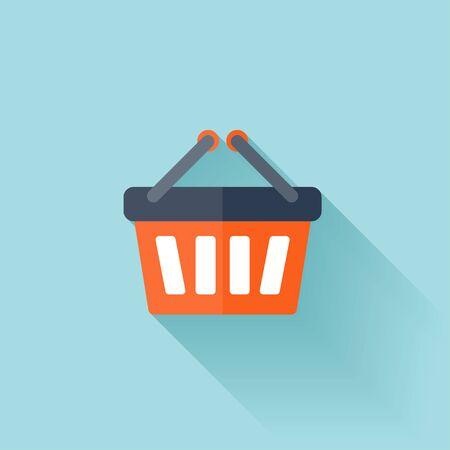 shopping bag icon: Flache Einkaufstasche Symbol
