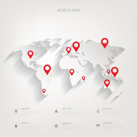 世界地図の概念。  イラスト・ベクター素材