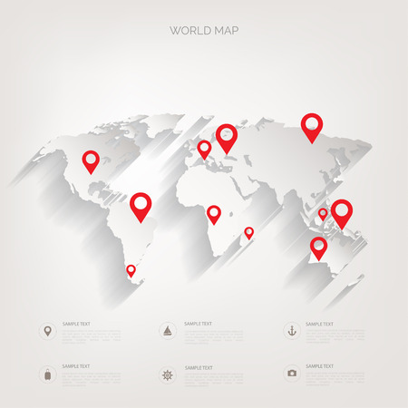 realist: World map concept.