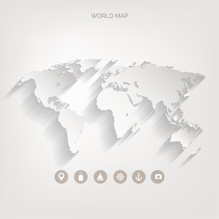 Weltkarte Konzept. Standard-Bild - 38099592