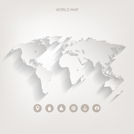 World map concept. Vector