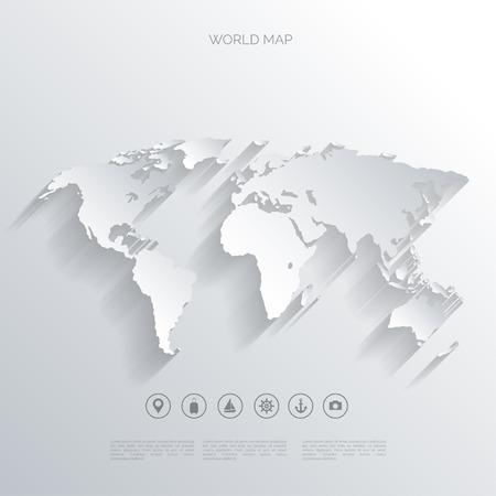 mapa mundi: Mapa del mundo concepto. Vectores